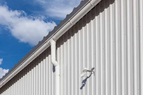 gutters on building