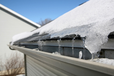 roof with snow and ice