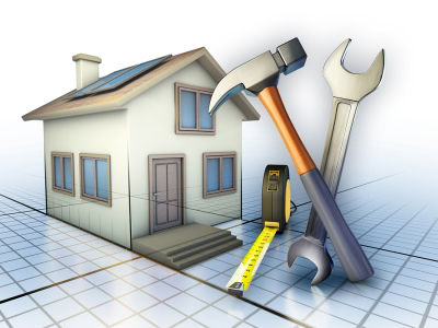 graphic of house and tools