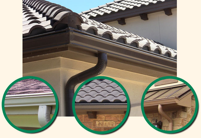 different types of gutters