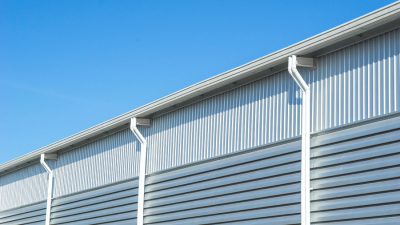 gutters on commercial building